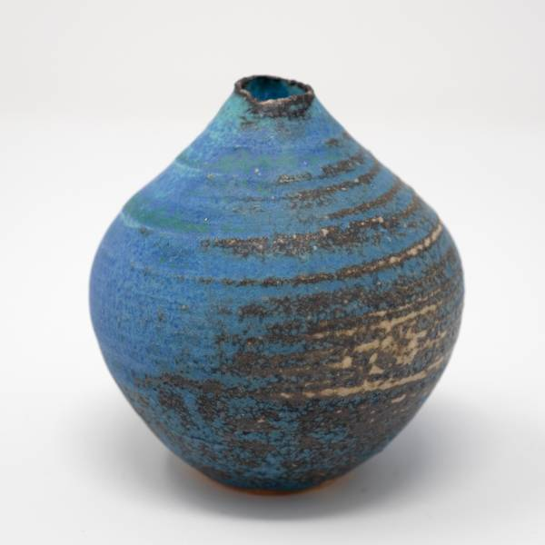 Image of Antique Blue Totto Bud Vase
