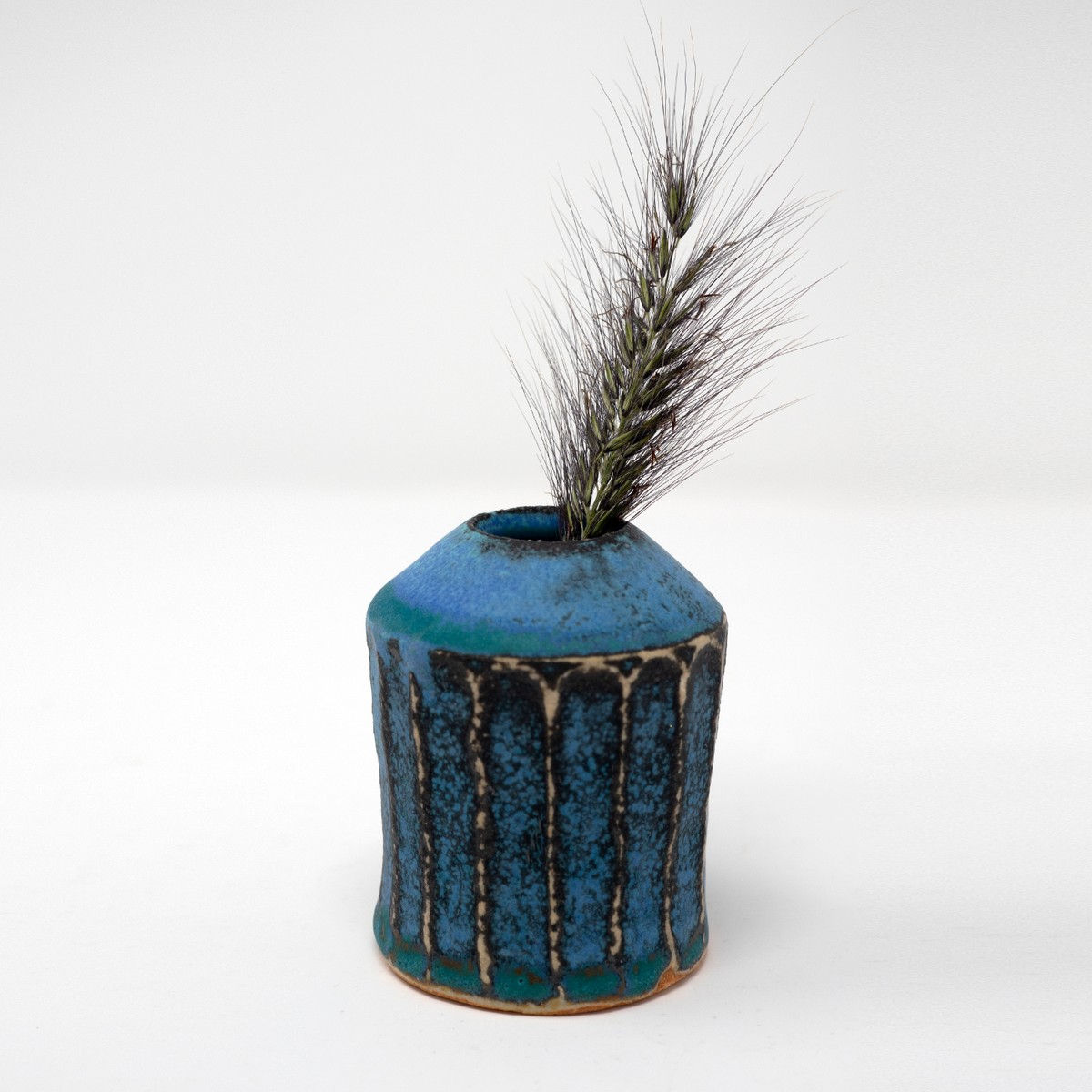 Photo of Antique Blue Shinogi Bud Vase