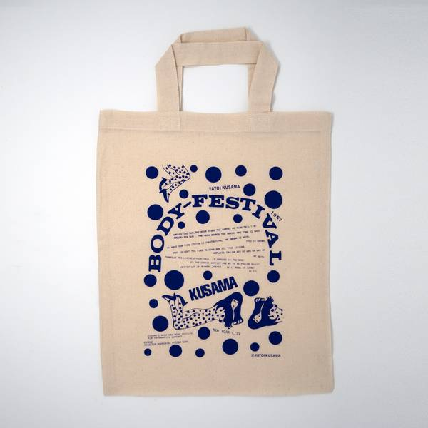 Image of Yayoi Kusama Tote Bag Blue