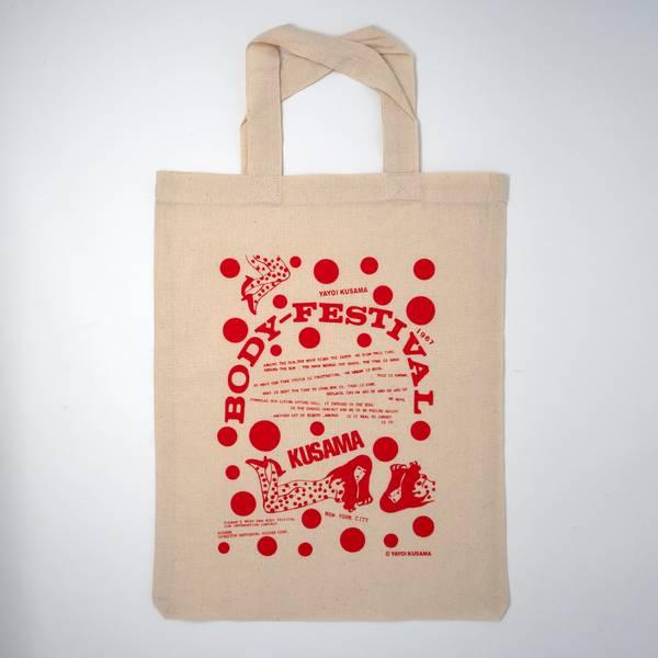 Image of Yayoi Kusama Tote Bag Red