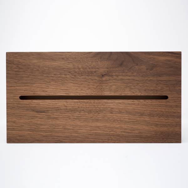Image of Walnut Tissue Box