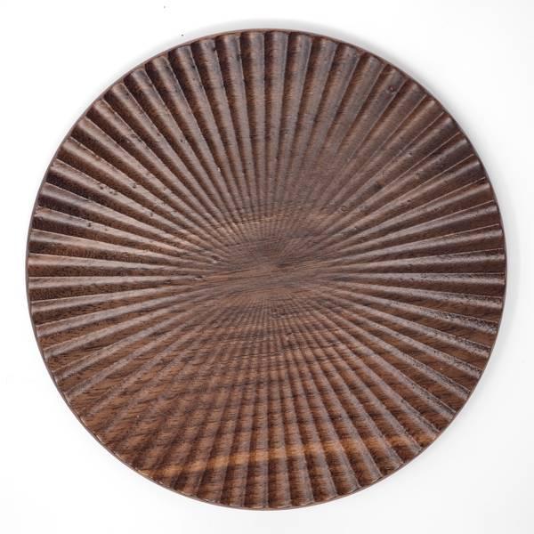 Image of Black Cherry Chrysanthemum Plate