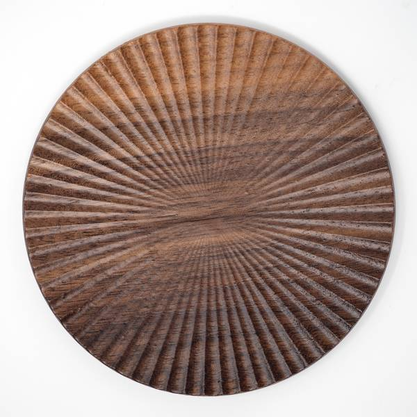 Image of Walnut Chrysanthemum Plate