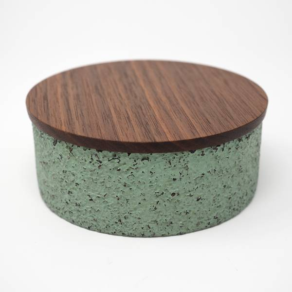 Image of Round Carved Box